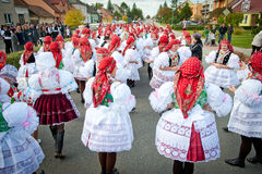 Parade in Vracov Royalty Free Stock Photos