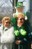 Parade watchers at  St. Patrick's Day Parade, Royalty Free Stock Photos