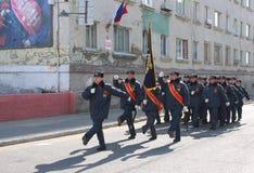 Parade zu Ehren des Tages des Sieges Lizenzfreie Stockfotografie