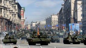 Parade zu Ehren des zweiten Weltkriegs Victory Day am 9. Mai stock video
