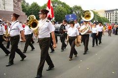 Paradebemanning van het schip, 27 Juli, 2013 Royalty-vrije Stock Afbeelding