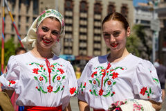 Paradeoverwinning in Kiev, de Oekraïne Royalty-vrije Stock Foto