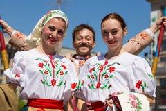 Paradeoverwinning op 9 Mei, 2013 Kiev, de Oekraïne Stock Foto