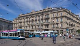 Paradeplatz广场在苏黎世 库存照片