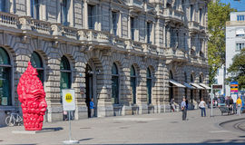 Paradeplatz广场在苏黎世 免版税库存图片