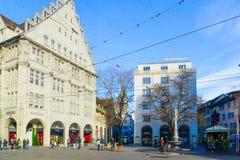 Paradeplatz &-x28; Parade&-x29; kwadrat, w Zurich zdjęcia stock