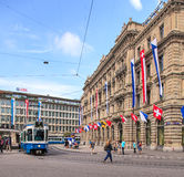 Paradeplatz square in Zurich, Switzerland Royalty Free Stock Image
