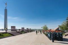 Paraderepetitie vóór de Dag van Overwinning Royalty-vrije Stock Fotografie