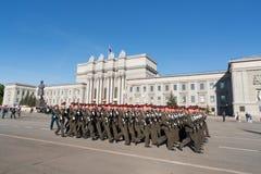 Paraderepetitie vóór de Dag van Overwinning Royalty-vrije Stock Foto's