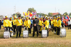 Paraders in local sports festival season Stock Images