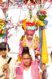Parades of Poy-Sang-Long Festival in Northern of Thailand. Stock Photo