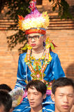 Parades of Poy-Sang-Long Festival in Northern of Thailand. Royalty Free Stock Photos