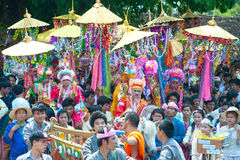 Parades of Poy-Sang-Long Festival in Northern of Thailand. stock photography