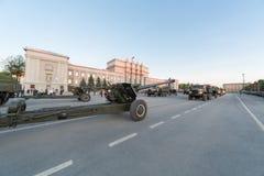 Paradewiederholung vor dem Tag des Sieges Stockfotos