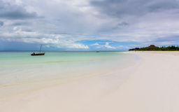 Paradicestrand Zanzibar Stock Foto's