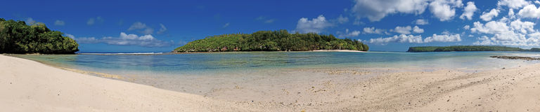 Paradies Crystal Water Poster Panorama Tongas das Polynesien Lizenzfreies Stockfoto
