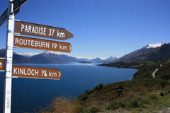 Paradies durch Lake Wakatipu Stockfotos