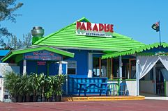 Paradies-Gaststätte u. Stab Stockfoto