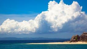 Paradies-Halbinsel auf einer Tropeninsel lizenzfreie stockbilder