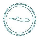 Paradies-Inselvektorkarte Stockfotos