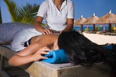 Paradies-Massage Stockbilder