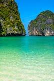 Paradies in Maya Bay, Thailand Lizenzfreie Stockbilder