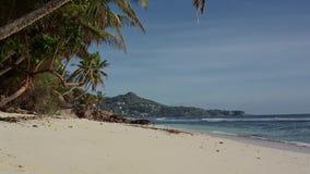 Paradies-Strand in Seychellen stock video footage