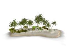 Paradies-Tropeninsel-Illustration Lizenzfreie Stockfotografie