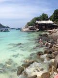 Paradiesansichten von Raya Island Lizenzfreie Stockfotos