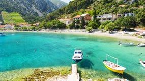 Paradiesbucht auf Peljesac-Halbinsel in Dalmatien, Kroatien Stockfoto