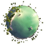 Paradiesinselkugel Lizenzfreies Stockbild