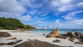 Paradiesstrand am anse Lazio auf den Seychellen 49 Lizenzfreies Stockfoto