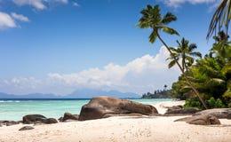 Paradiesstrand in den Seychellen Lizenzfreies Stockfoto