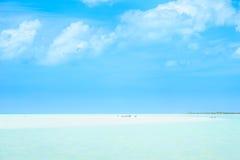 Paradiesstrand van eiland Holbox in Yucatan - Mexico stock fotografie