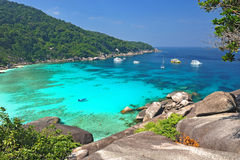 Paradiesstrand von Similan-Inseln, Thailand Stockfotos