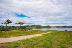 Paradiesweg durch das Meer Lizenzfreies Stockbild