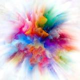 Paradigm of Colorful Paint Splash Explosion stock illustration