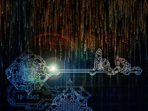 Paradigm of Key Code Stock Photos