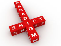 Paradigm shift crossword Royalty Free Stock Photography