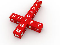 Paradigm shift crossword Stock Photo