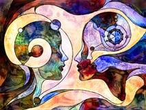 Paradigma da compreensão ilustração royalty free