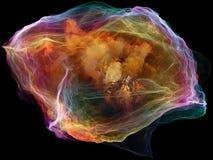 Paradigma de la partícula de la mente ilustración del vector