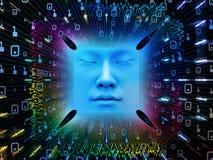 Paradigma des Supermenschen AI Stockbild