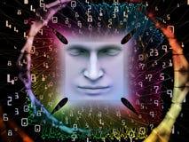 Paradigma des Supermenschen AI Stockfoto