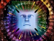 Paradigma do ser humano super AI Foto de Stock Royalty Free