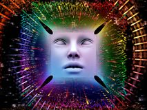 Paradigma do ser humano super AI Imagens de Stock