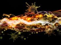 Paradigma van Dynamisch Netwerk Stock Foto