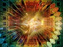 Paradigma van Quantumruimte Royalty-vrije Stock Afbeelding