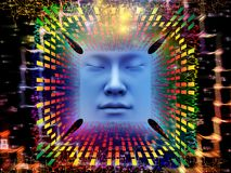 Paradigma van Super Menselijke AI Royalty-vrije Stock Foto
