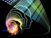 Paradigme d'intelligence Photographie stock libre de droits